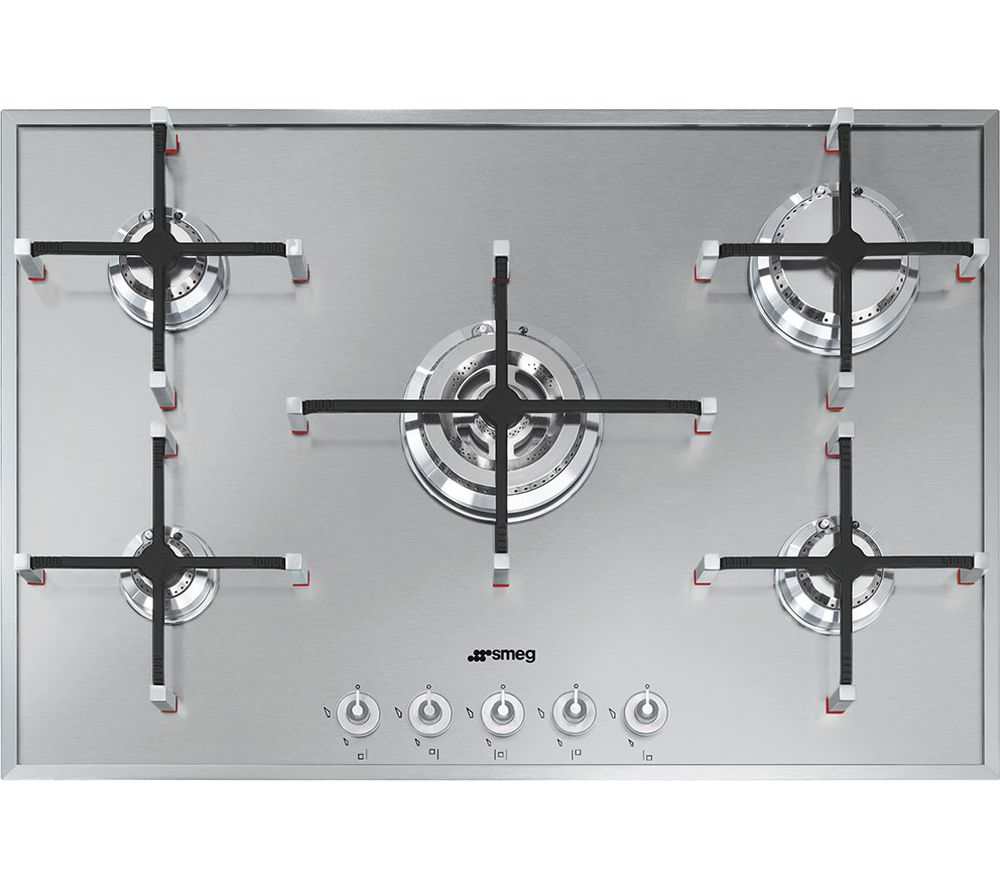 SMEG Linea PX750 Gas Hob - Stainless Steel