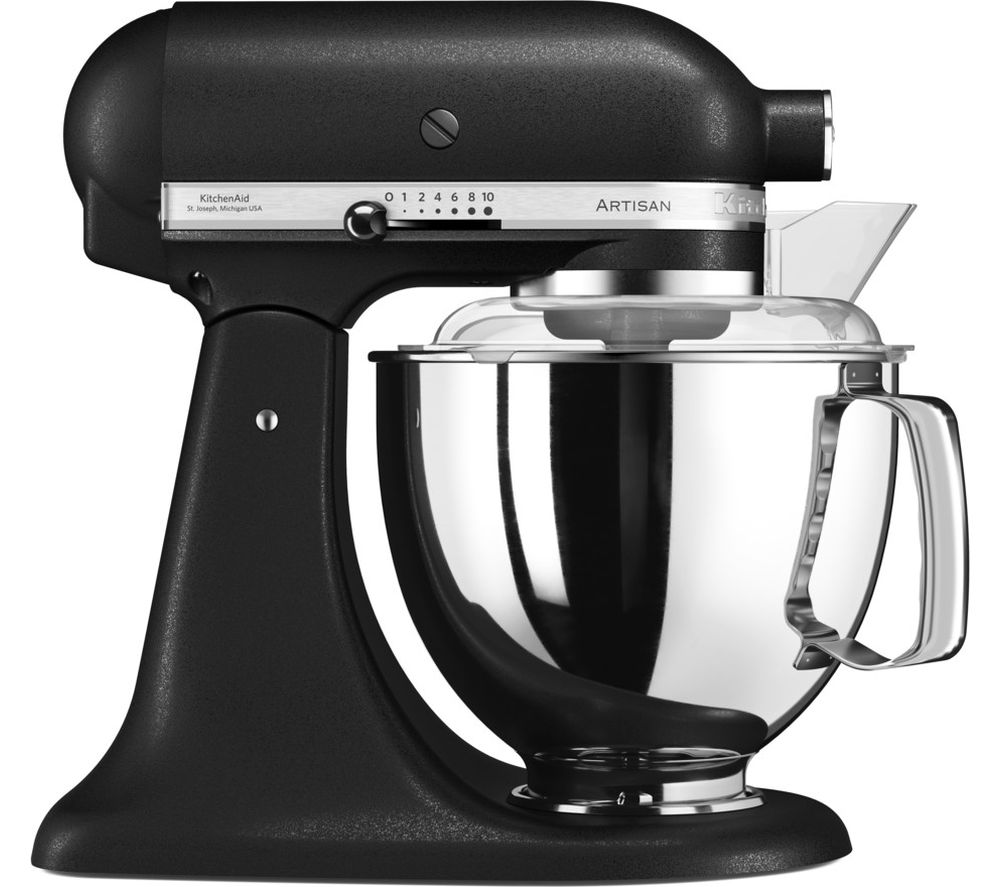 buy kitchenaid artisan 5ksm175psbbk stand mixer cast iron black free delivery currys. Black Bedroom Furniture Sets. Home Design Ideas