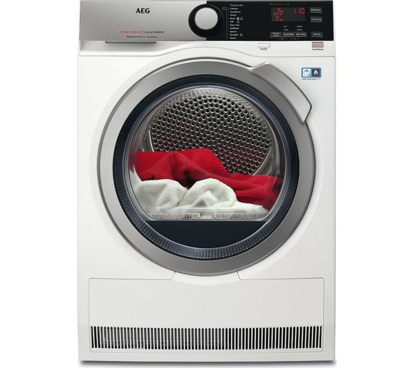 Image of AEG AbsoluteCare T8DEE945R Heat Pump Tumble Dryer - White