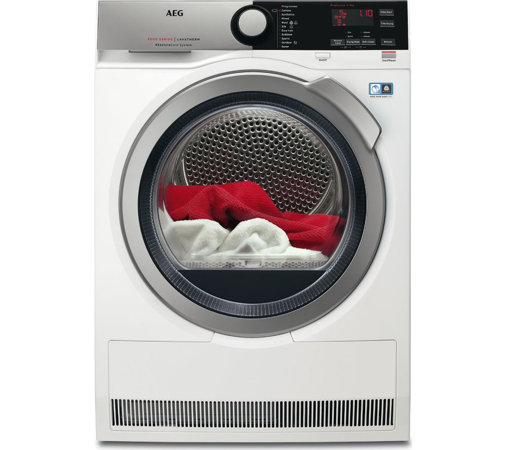 AEG Tumble Dryer  AbsoluteCare T8DEE945R Condenser  - White, White