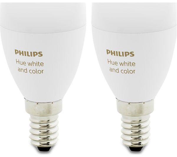 Philips Hue E14.Buy Philips Hue White Colour Ambience Wireless Bulb E14 Twin