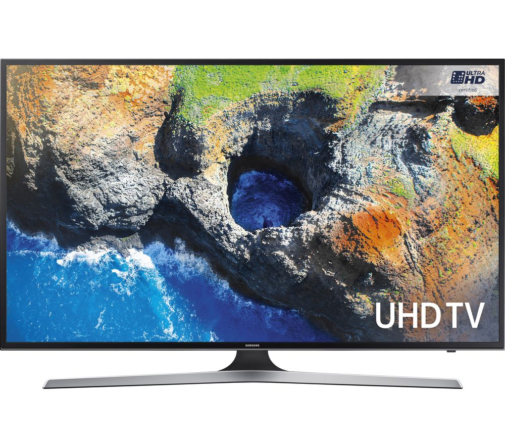 "SAMSUNG UE43MU6100 43"" Smart 4K Ultra HD HDR LED TV + SFLEZ14 Medium to Large Fixed TV Bracket"