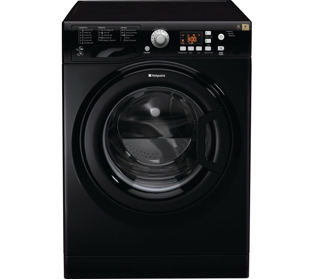 HOTPOINT Aquarius FDF 9640 K 9 kg Washer Dryer - Black