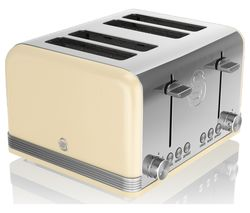 SWAN Retro ST19020CN 4-Slice Toaster - Cream
