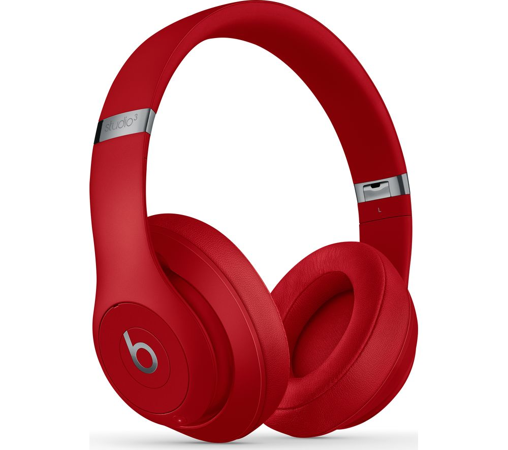 BEATS Studio 3 Wireless Bluetooth Noise-Cancelling Headphones - Red