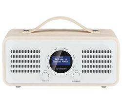 SANDSTROM SL-DBTC18 Portable DAB+/FM Bluetooth Radio - Cream