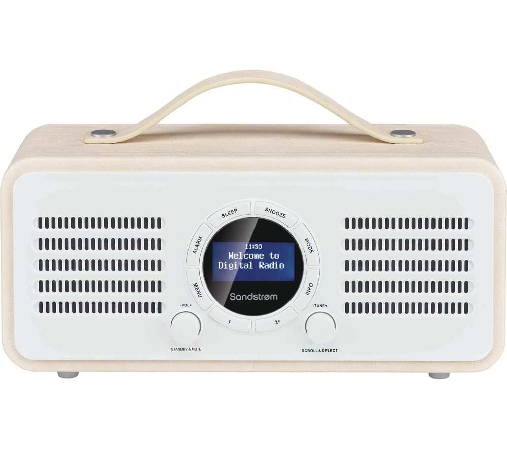 SANDSTROM SL-DBTC18 Portable DAB+/FM Bluetooth Radio - Cream