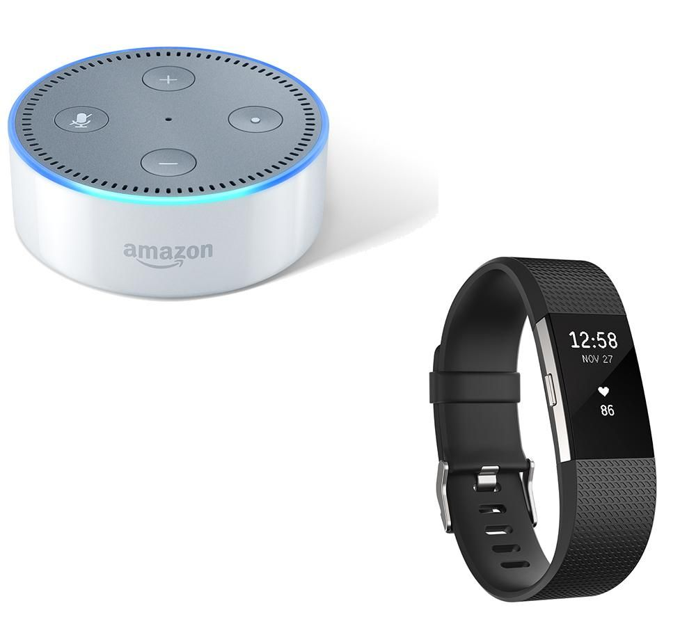 Compare prices for Fitbit Charge 2 and Amazon Echo Dot Bundle - Black - Large