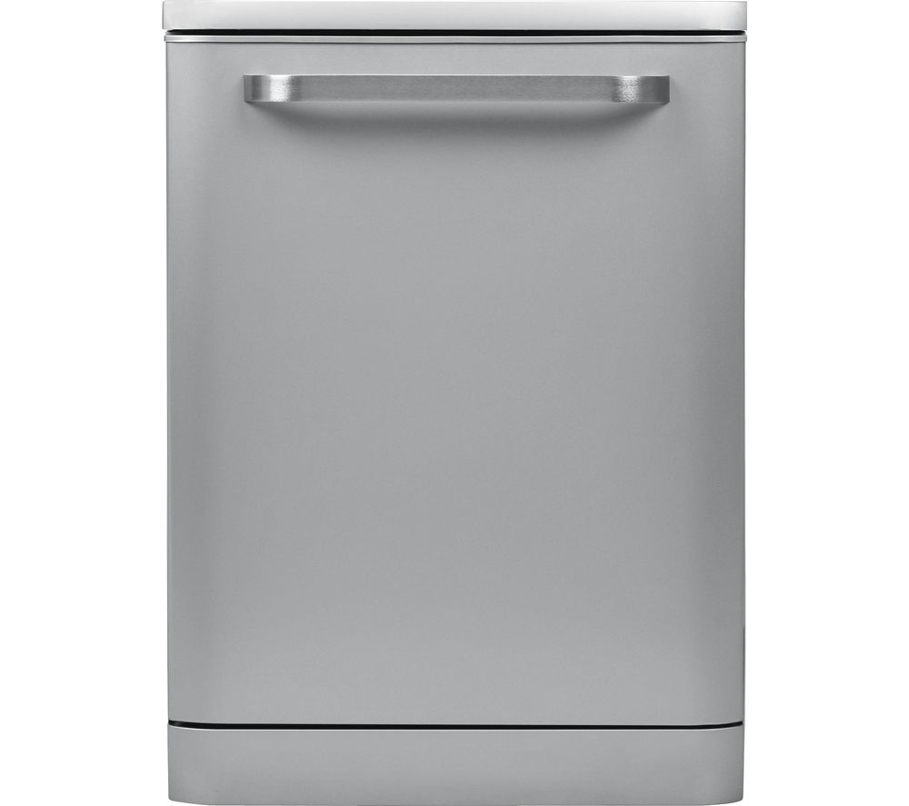 SHARP QW-DX41F7S Full-size Dishwasher – Silver, Silver