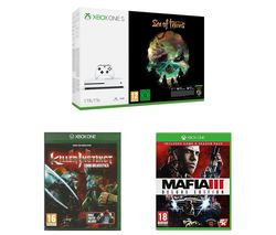MICROSOFT Xbox One S, Sea of Thieves, Mafia III Deluxe Edition & Killer Instinct Combo Breaker Pack Bundle