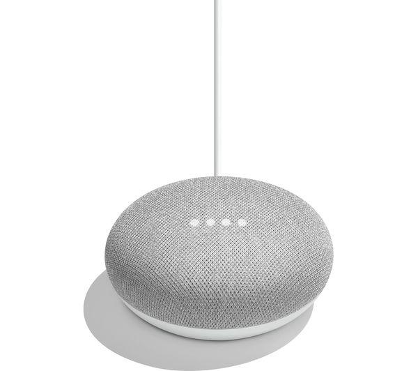 NEST Hello Video Doorbell & Google Home Mini Bundle - Chalk