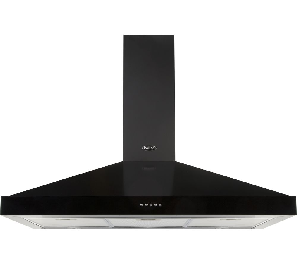 BELLING Farmhouse 90 Chimney Cooker Hood - Black, Black
