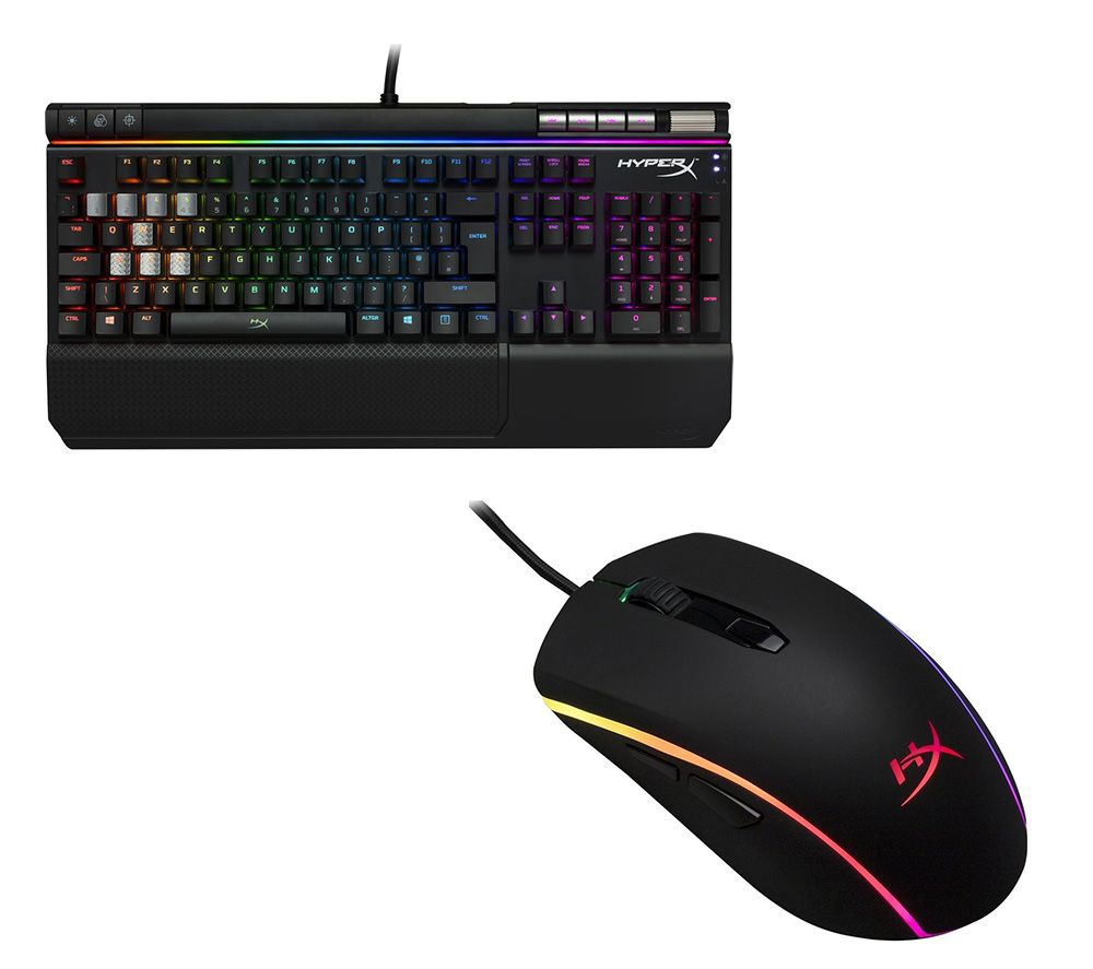 HYPERX Alloy Elite RGB Mechanical Gaming Keyboard & Pulsefire Surge RGB Optical Gaming Mouse Bundle