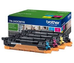 Image of BROTHER TN243CMYK Cyan, Magenta, Yellow & Black Toner Cartridges