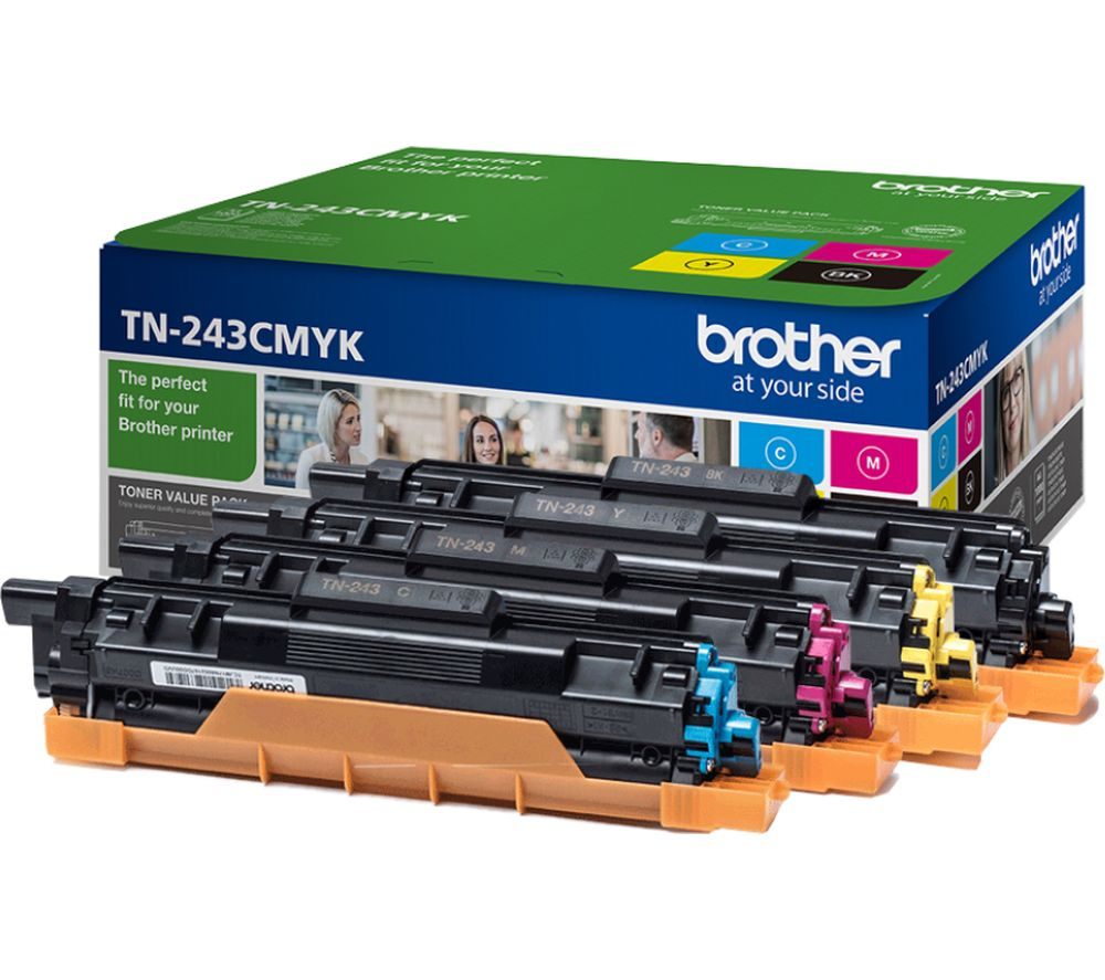 Image of TN243CMYK Cyan, Magenta, Yellow & Black Toner Cartridges, Cyan
