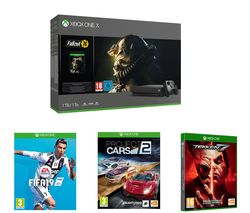 MICROSOFT Xbox One X, Fallout 76, Tekken 7, FIFA 19 & Project Cars 2 Bundle