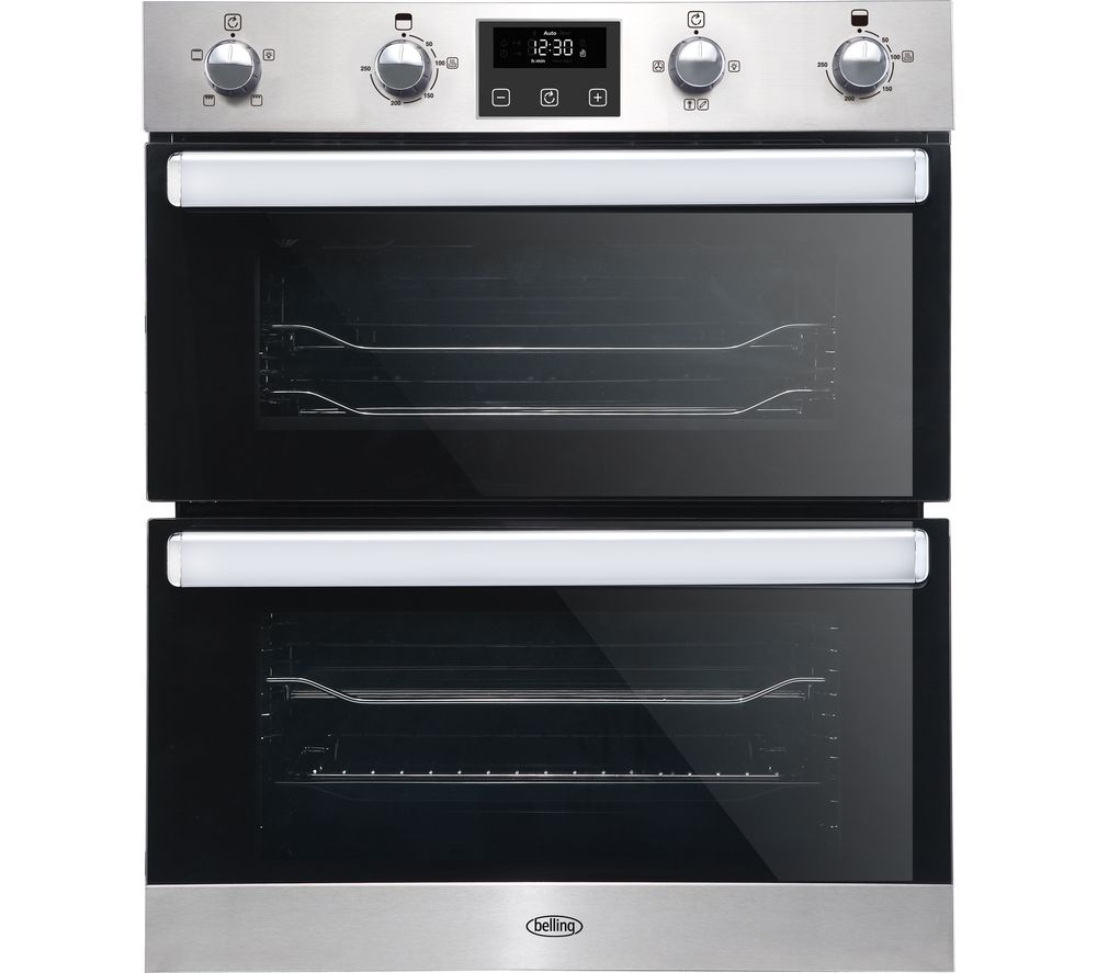 BELLING BI702FPCT Electric Built-under Double Smart Oven - Stainless Steel