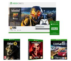 MICROSOFT Xbox One S, Anthem, Project Cars 2, Tekken 7, Fallout 76 & LIVE Gold 3 Month Subscription Bundle