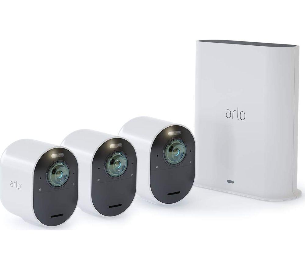 ARLO Ultra VMS5340-100EUS 4K Ultra HD WiFi Security Camera Kit - 3 Cameras