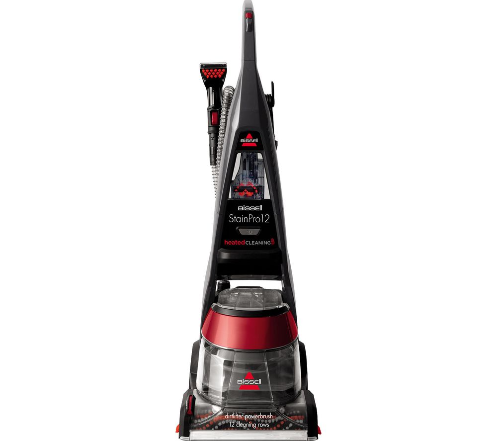 StainPro 12 Upright Carpet Cleaner - Black & Red, Black