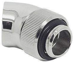EK COOLING EK-AF Angled 45 Degrees Fitting Adapter - Silver