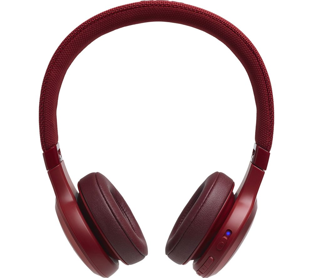 JBL Live 400BT Wireless Bluetooth Headphones - Red