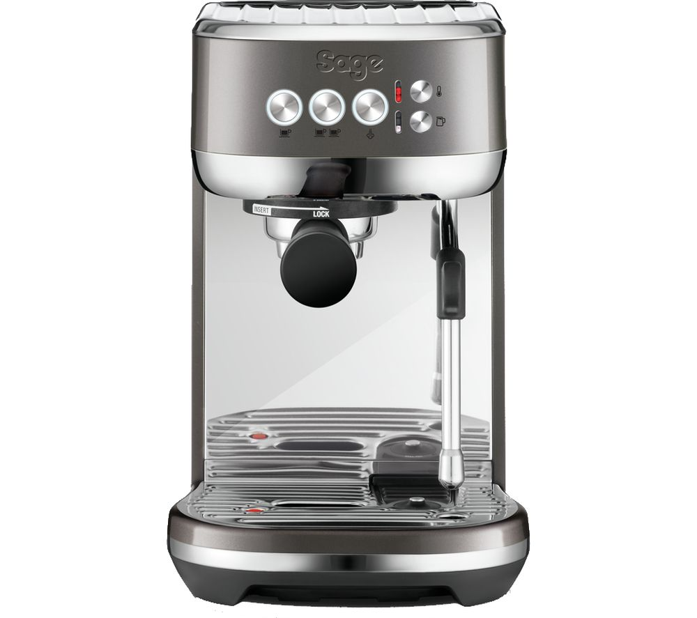 SAGE The Bambino Plus SES500BHY Coffee Machine - Smoked Hickory