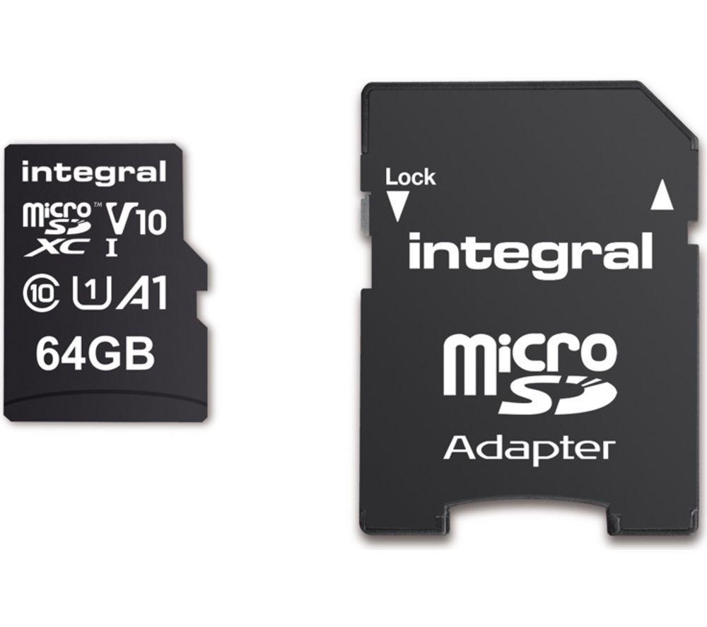 INTEGRAL V10 Class 10 microSD Memory Card - 64 GB