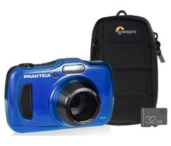 Luxmedia WP240-BL Compact Camera with Case & SD Card - Blue