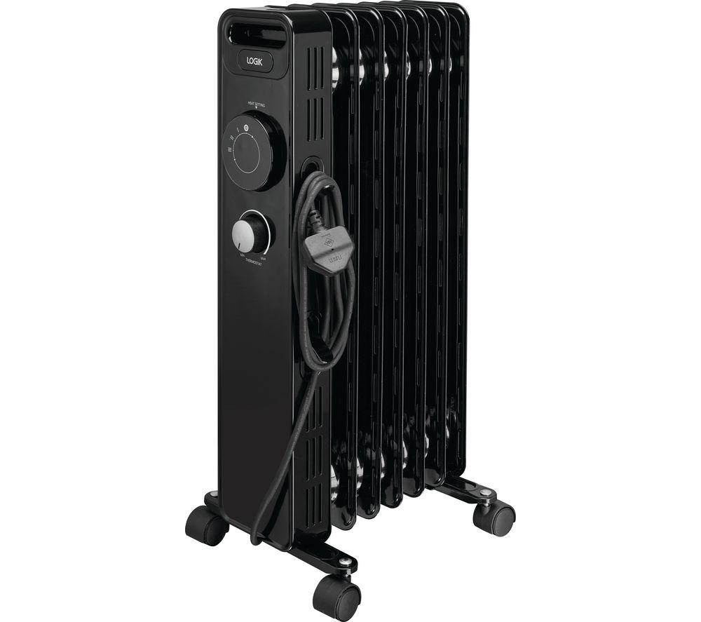 LOGIK L15OFR20 Portable Oil-filled Radiator - Black
