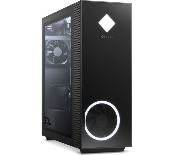 Image of HP OMEN 30L Gaming PC - AMD Ryzen 7, RX 5700, 2 TB HDD & 512 GB SSD