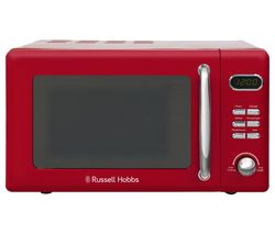 RUSSELL HOBBS Retro RHRETMD806R Compact Solo Microwave - Red Best Price, Cheapest Prices
