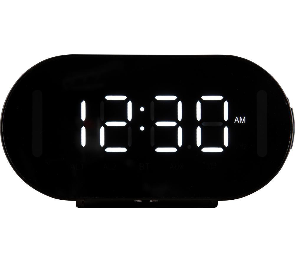 DAEWOO AVS1463 Portable FM Bluetooth Clock Radio - Black, Black
