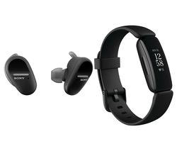 SONY WF-SP800N Wireless Sports Earbuds & Fitbit Inspire 2 Bundle