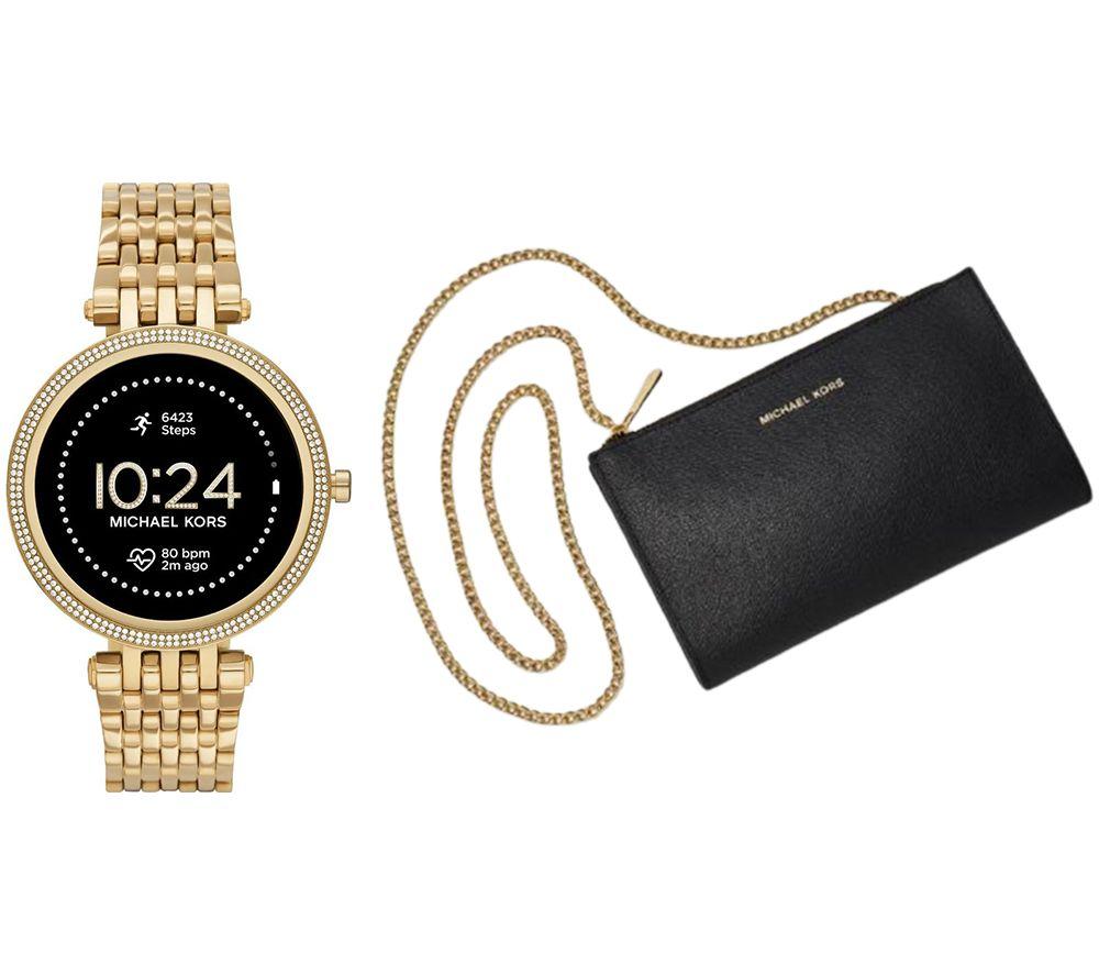 MICHAEL KORS Darci Gen 5E MKT5127 Smartwatch & Mini Messenger Bag Bundle