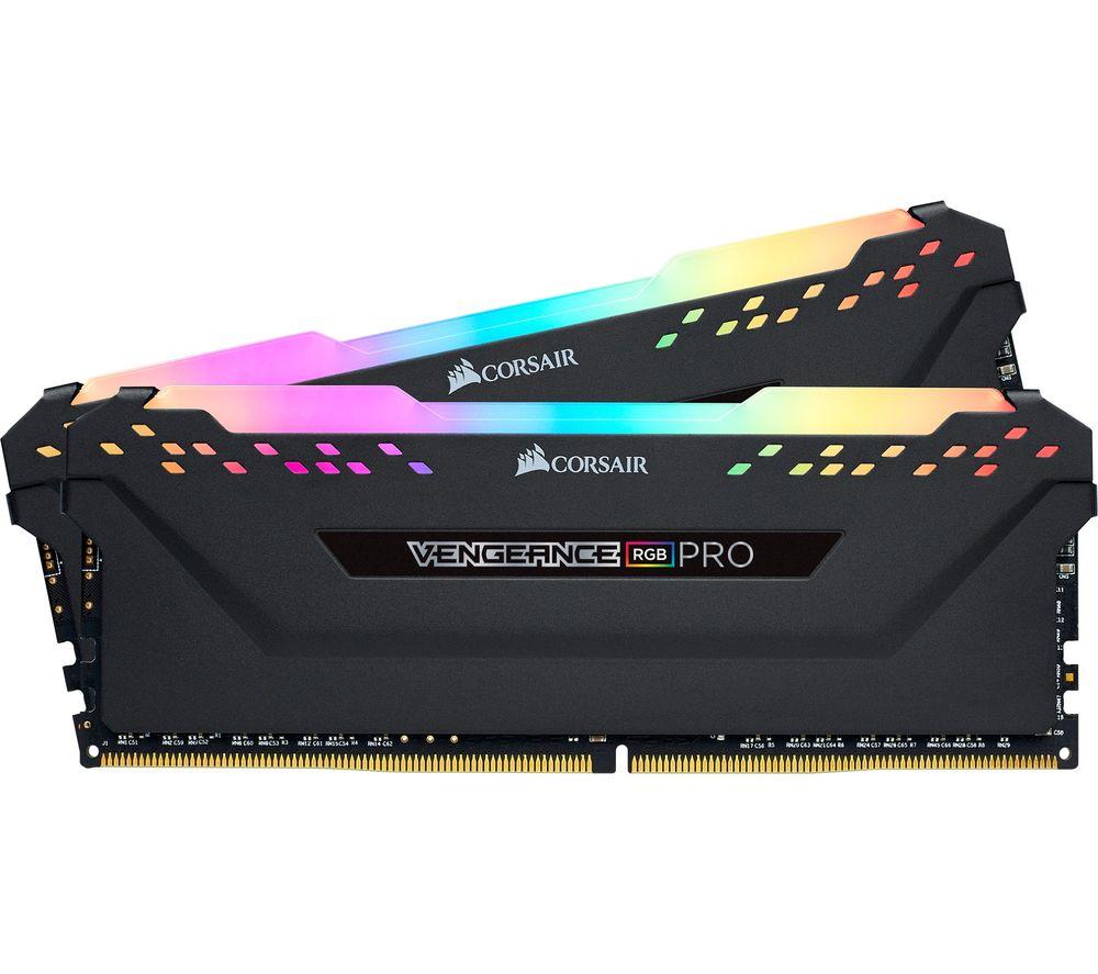 CORSAIR Vengeance Pro RGB DDR4 3200 MHz PC RAM - 16 GB x 2