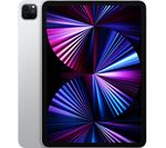 £749, APPLE 11inch iPad Pro (2021) - 128 GB, Silver, iPadOS, Liquid Retina display, 128GB storage: Perfect for saving pretty much everything, Battery life: Up to 10 hours, Compatible with Apple Pencil (2nd generation) / Magic Keyboard / Smart Keyboard Folio,