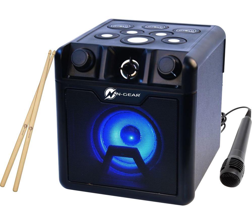 N-GEAR Drum Block 420 Portable Bluetooth Karaoke Speaker - Black, Black
