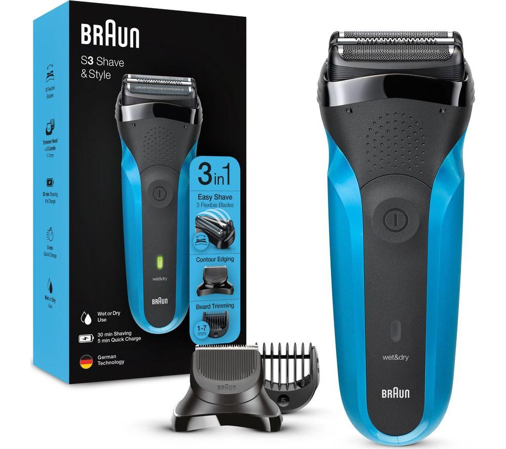 BRAUN Series 3 310BT Wet & Dry Shaver - Blue & Black