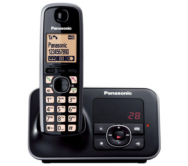 Buy PANASONIC KX-TG6621EB Cordless Phone with Answering ...