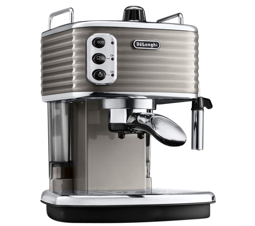 Delonghi Coffee Maker Ec7 : Buy DELONGHI Scultura ECZ351BG Espresso Machine - Champagne Free Delivery Currys