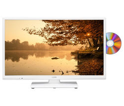 "LOGIK L24HEDW15 24"" LED TV with Built-in DVD Player - White"