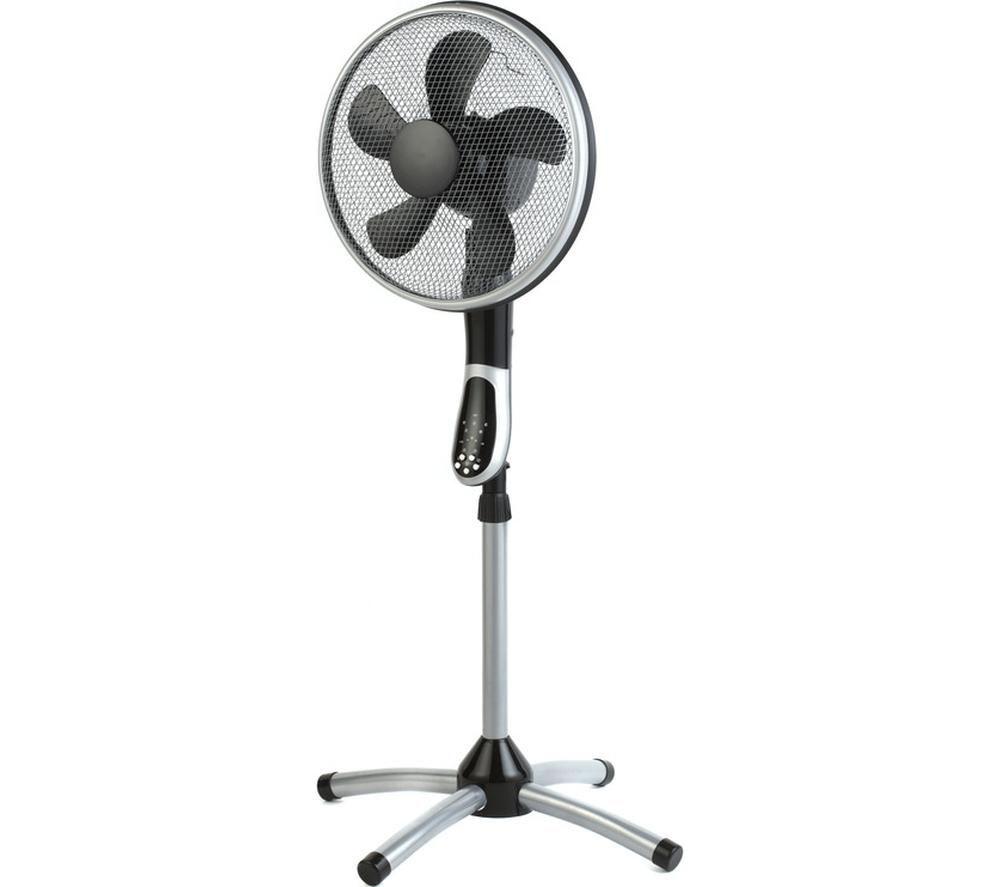 """BELDRAY EH1331 360 Degree 16"""" Pedestal Fan - Silver & Black"""