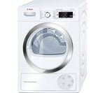 BOSCH Serie 8 WTW87560GB Heat Pump Tumble Dryer - White