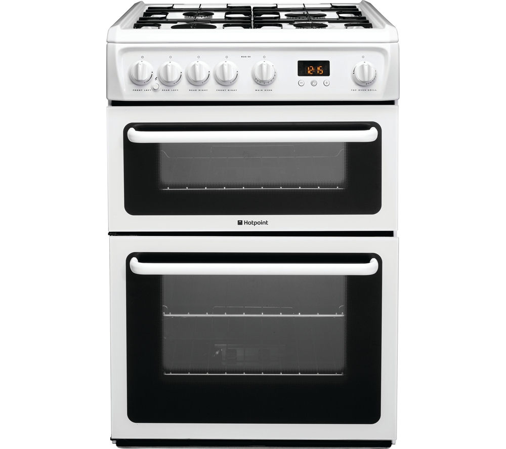 Buy Hotpoint Ultima Hag60p Gas Cooker White Free