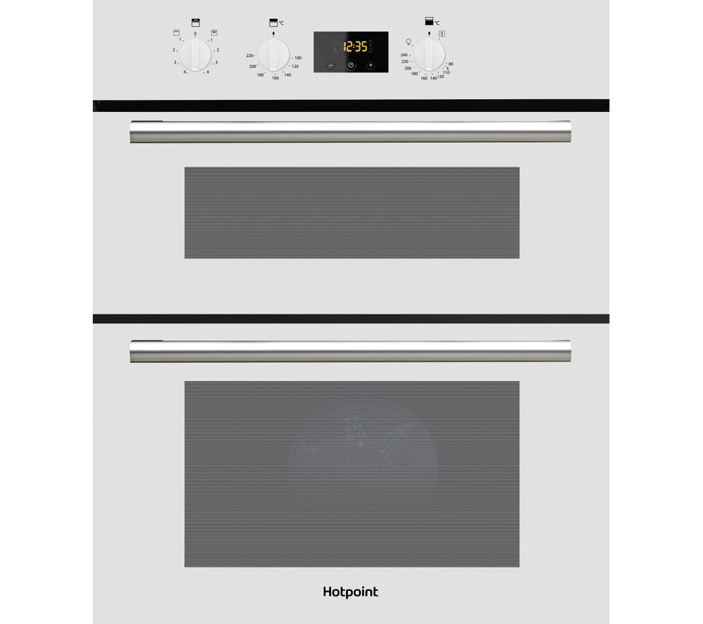 HOTPOINT Class 2 DU2 540 Electric Built-under Double Oven - White