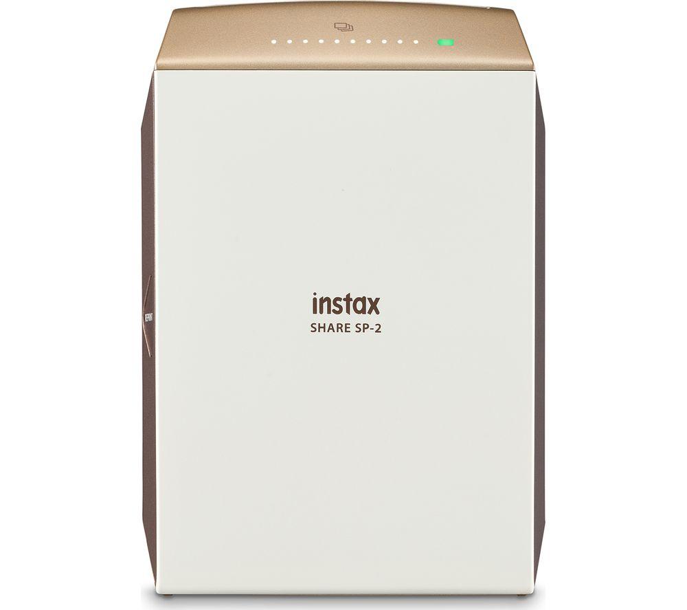 INSTAX Share SP-2 Photo Printer & 10 Shot Bundle - Gold