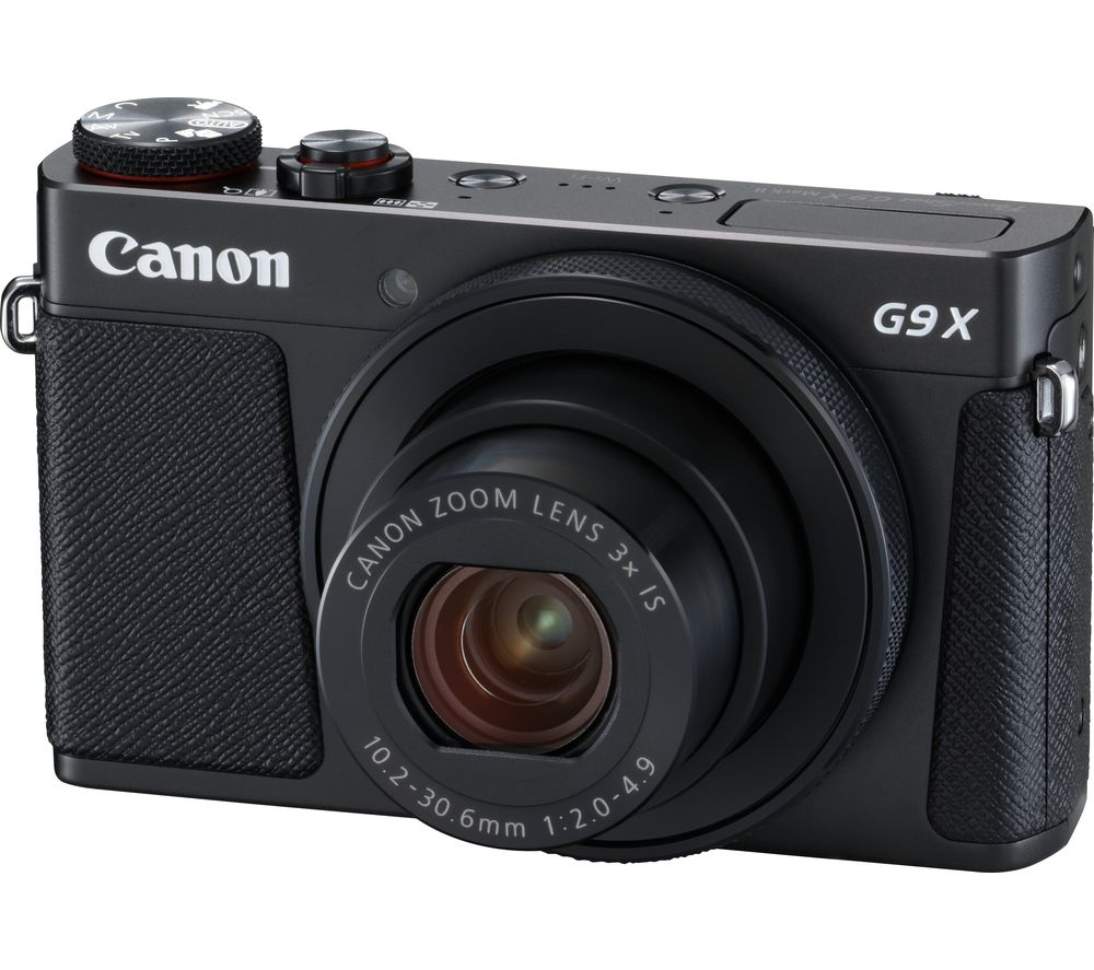 CANON PowerShot G9X MK II High Performance Compact Camera - Black + Extreme Plus Class 10 SD Memory Card Twin Pack - 16 GB