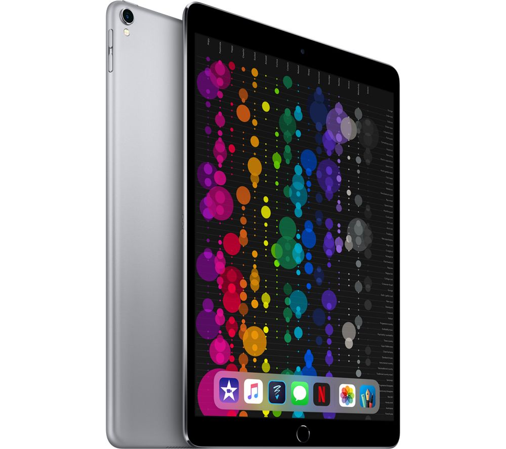 "Image of APPLE 10.5"" iPad Pro Cellular - 64 GB, Space Grey (2017), Grey"