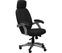 ALPHASON Bentley AOC6355-L-BLK Leather Tilting Executive Chair - Black
